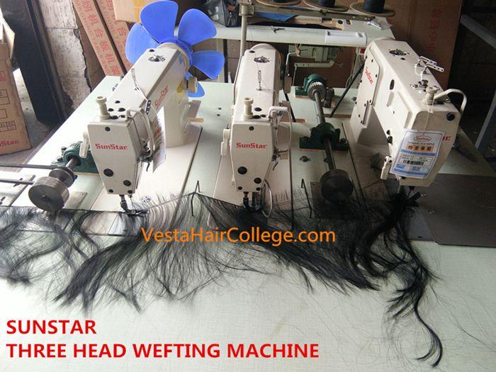 SUNSTA Three Head Hair Wefting Machine Enchanting Hair Sewing Machine
